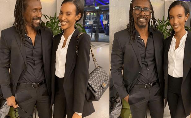 Aliou Cissé et sa fille Chelsea en toute complicité