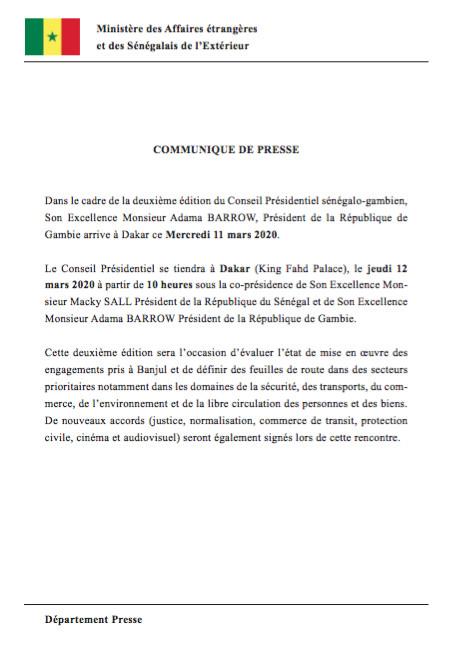 Ministère des Affaires étrangères et des Sénégalais de l'Extérieur