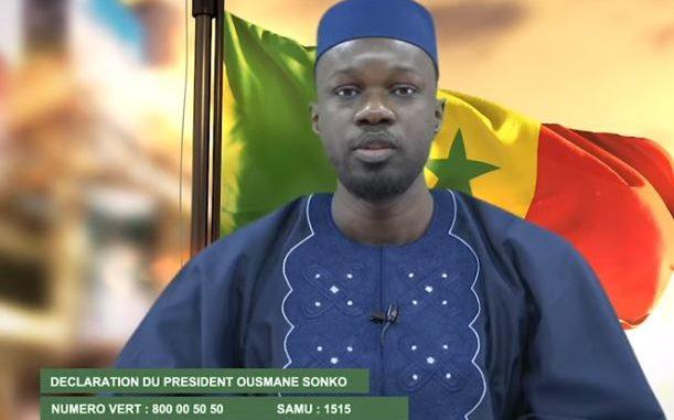 Coronavirus -Importante Déclaration de Ousmane Sonko (Vidéo)