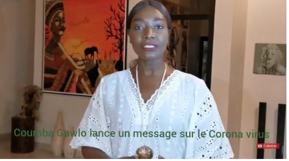 VIDEO - L'artiste chanteuse Coumba Gawlo Seck sensibilise sur le Coronavirus