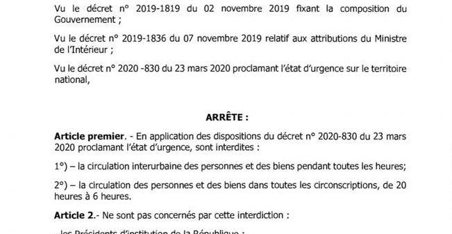 Personnes non-concernées par le couvre-feu : Aly Ngouille Ndiaye élargit la liste (document officiel)