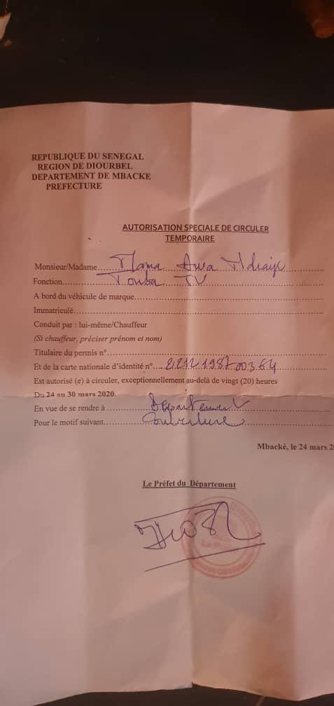 En exercice de ses fonctions, voici Mame Awa Ndiaye journaliste de Touba TV brutalisée par les forces de l'ordre