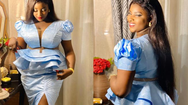 Sagnsé de Korité: Hanches bien taillées, dans une tenue très tendance: Abiba , une vraie Jongoma qui brille dans ses …