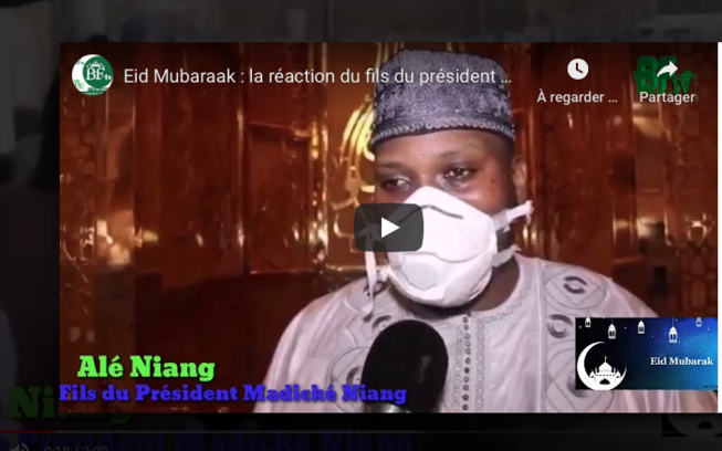 Eid Mubaraak : la réaction du fils du président Madické Niang