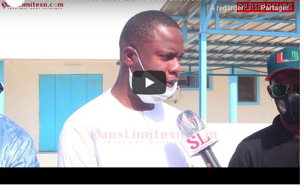 Le jeune Adama Bèye vient en aide au personnel de l'hôpital Fann