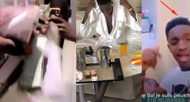 Vidéo-Kawtef : Malick de LOMOTIF Korité s'affiche encore dans un hotel avec des liasses de billets