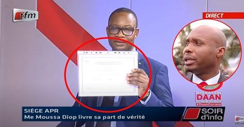 Me Moussa Diop tire sur Barthelemy Dias et brandit ses diplômes pour…
