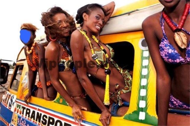 Une brochette de belles femmes dans un carapide!