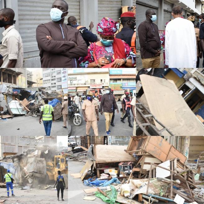 Urgent les premiers images de la démolition du marché Sandaga