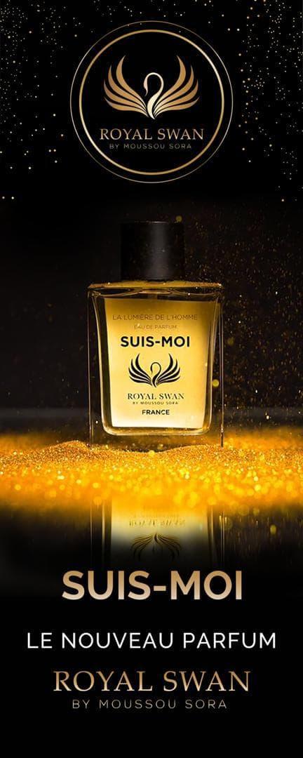 Moussou Sora fondatrice de la marque Royal Swan lance sa première collection de parfum »SUIS -MOI »