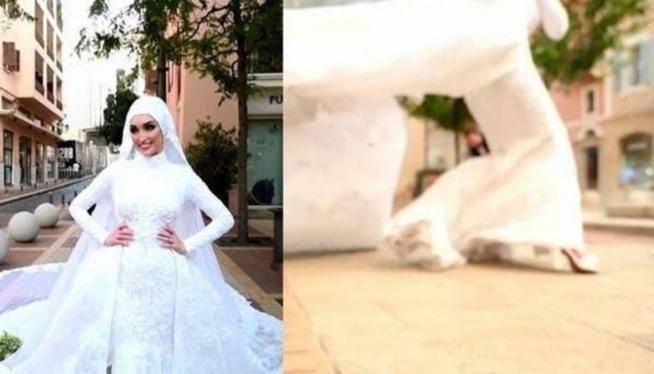 Liban: une mariée surprise par l'explosion en pleine séance photo-vidéo