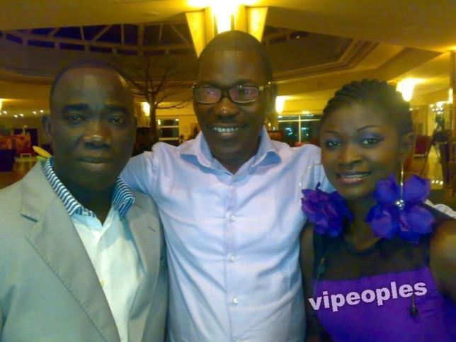 Le journaliste Guissé Péne, Mapenda Seck et une animatrice