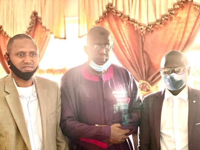 Le Président de l'Association des Sénégalais d'Amerique, Sadio Yaya Barry et le Trésorier Général, Mamadou Drame à Denver pour rendre hommage à Djiby Diol et sa famille