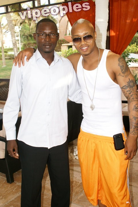 El Hadji Diouf et le journaliste Elhadji Ibrahima Thiam