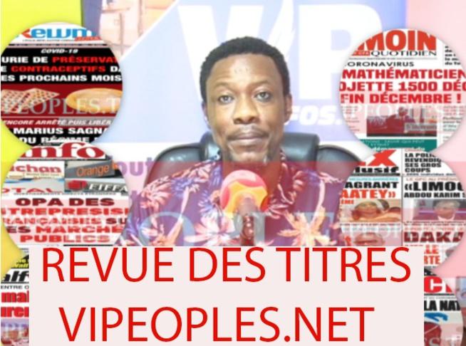La revue de presse de Tange, la une des quotidiens du mardi 11 juillet 2020