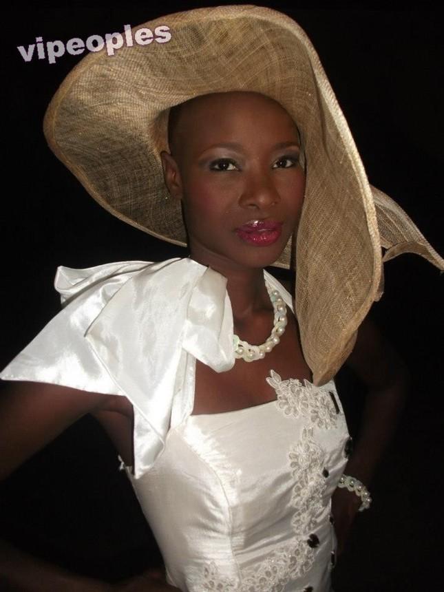 Fleur Mbaye au défilé du salon de mariage à Radisson Blu