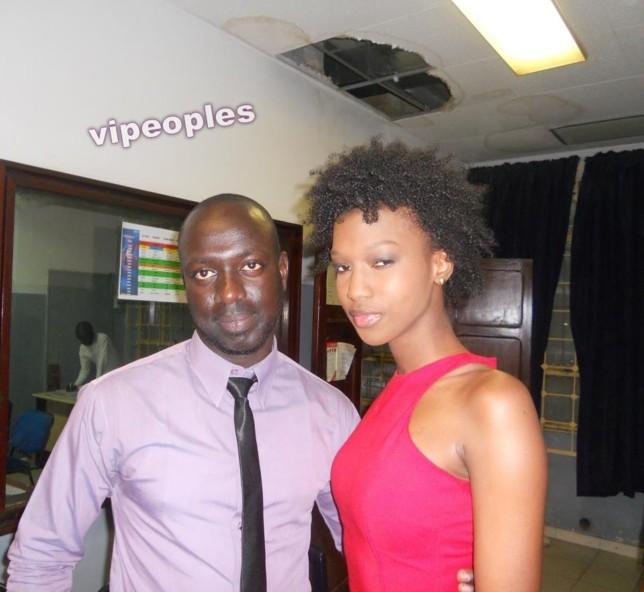 Miss black France et un ingénieur de la RTS