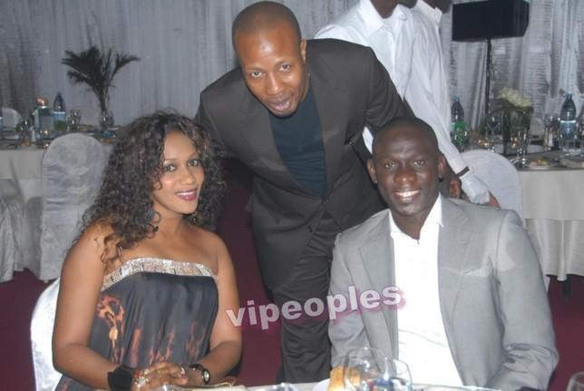 Paco Jackson, Pape Diouf et sa belle femme!