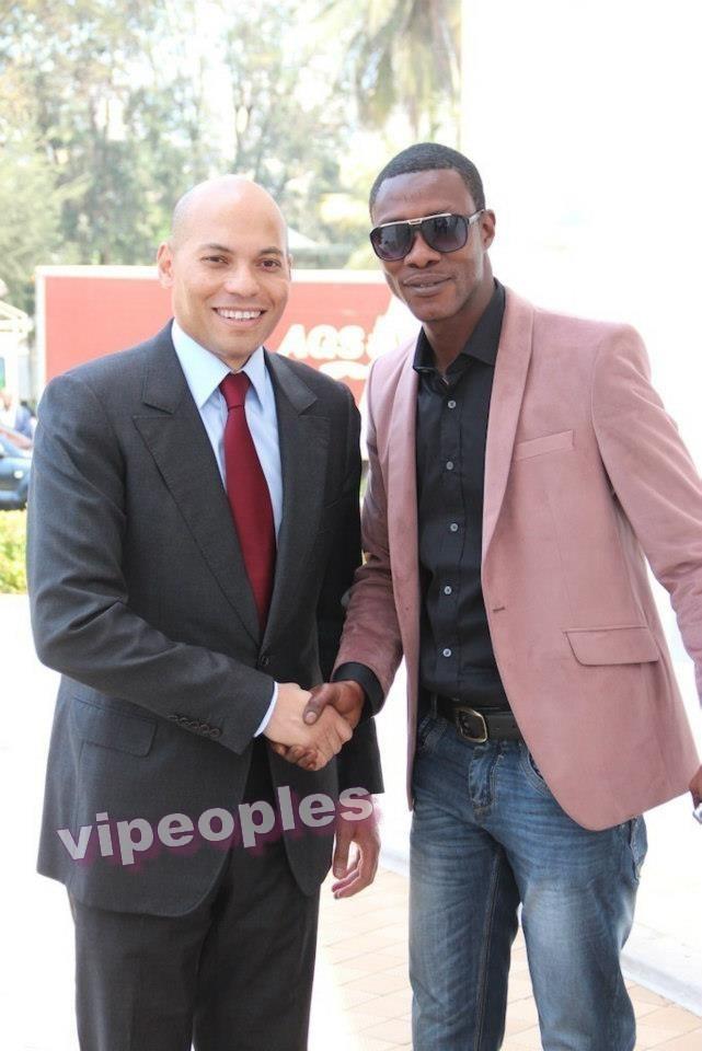 Tange Tandian et Karim Wade