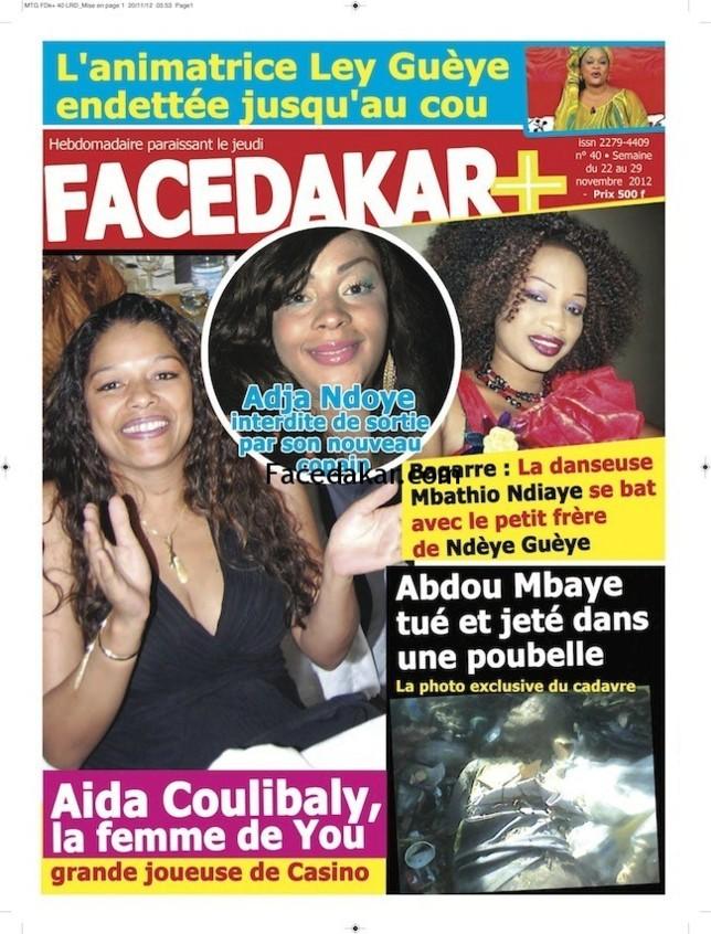 Voici la Une du magazine Facedakar Plus !