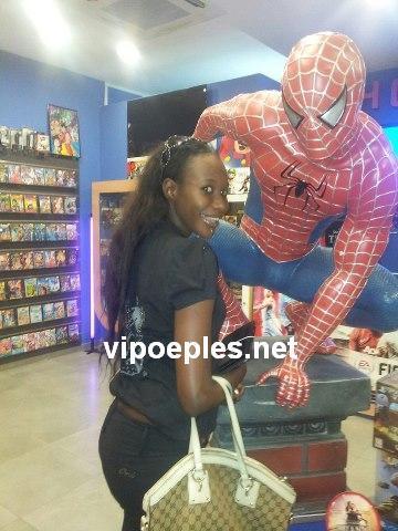 Aby Gabon en mode Spiderman