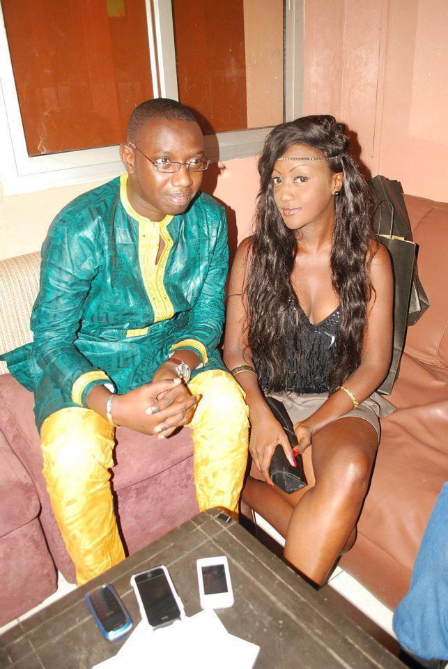 Gabrielle Yandor Goudiaby et bamba diop organisateur de miss west africa manager de feeling dakar et feeling pro