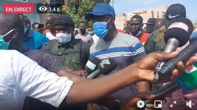 """Ousmane Sonko aux sinistré de Keur Massar """"Considérer que c'est le député qui parle"""""""