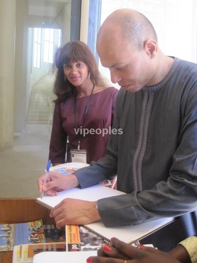 Khadija Fall et Karim Wade