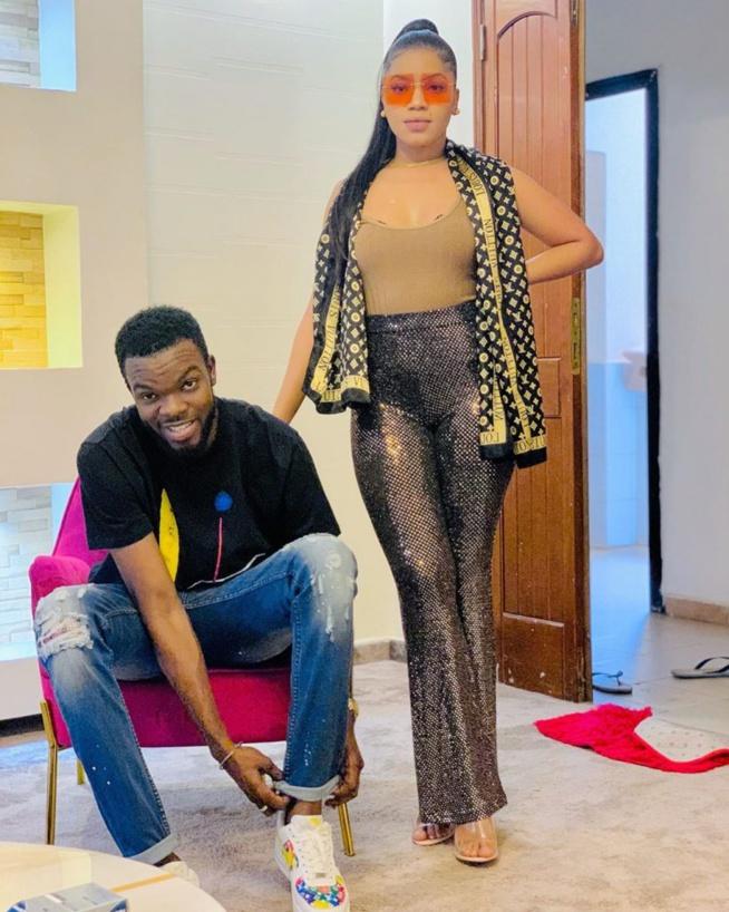 -Fraîchement mariés , Momo Wade et son épouse Ndeye Sokhna Sonko s'affichent en amoureux