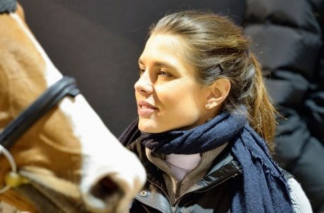 Charlotte Casiraghi chevauche avec Guillaume Canet