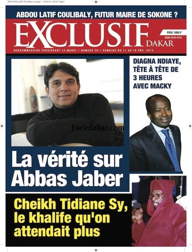 La Une du magazine Exclusif Dakar de cette semaine !