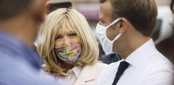 Maroc : Brigitte Macron adopte les masques signés Mehdi Qotbi