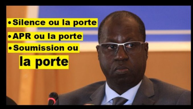 Macky Sall dértuit en public son ministre Abdou K.Sall «Je l'ai toujours dit, il doit être arrêter d'être toujours renfrogné»