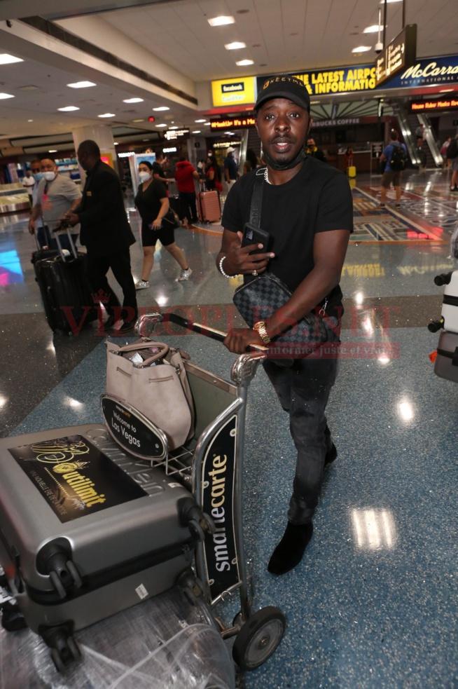 En images depuis l'aeroport de Las Vegas, l'arrivés des guest de Mo Gate pour au Las Vegas Fashion week
