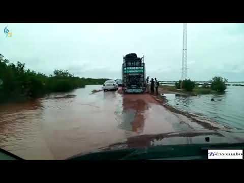 Urgent: Les eaux du fleuve Casamance coupent Ziguinchor du reste du Sénégal dans l'indifférence