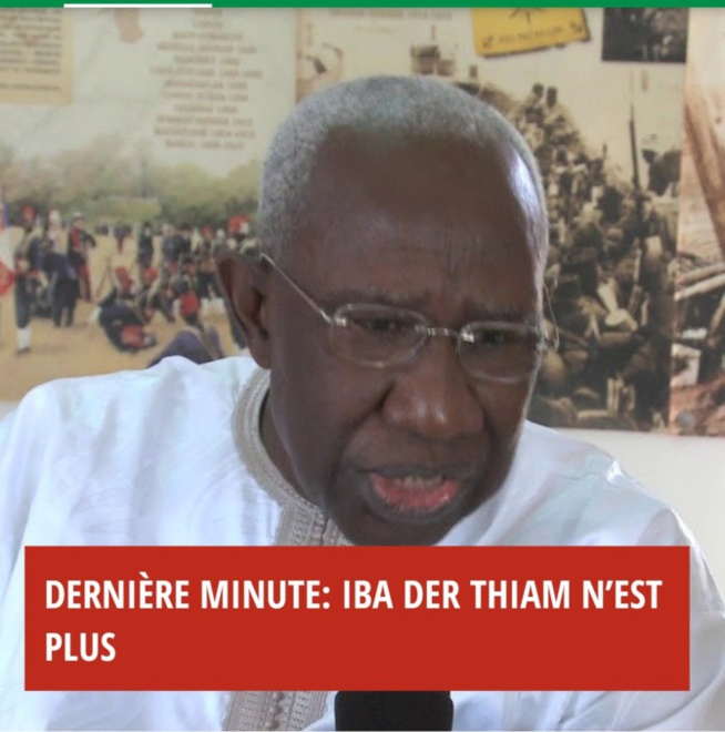 Décès du Pr Iba Der Thiam: levée du corps à 10h, enterrement à Yoff