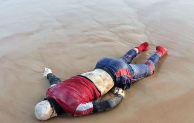 Rejeté par la mer, un corps sans vie sur la plage de Hamo 5