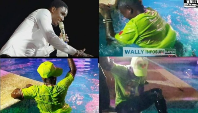 Wally Seck Au Timiss: Pawlish Mbaye Tombe Dans La Piscine