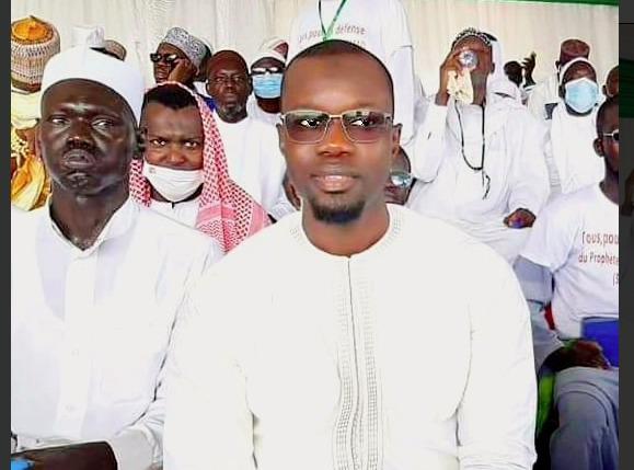 Ousmane Sonko au rassemblement des Sénégalais contre l'Islamophobie