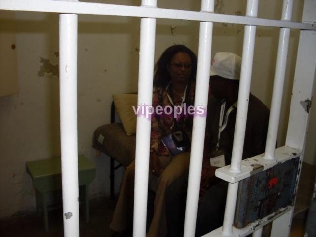 La cellule ou Nelson Mandela fut emprisonné pendant 18 ans avant d'etre transfere a la prison de pollsmor