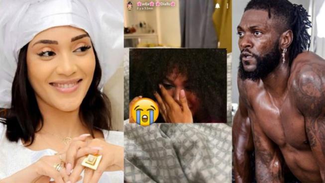 « Toilettes publique »Adja Diallo très révoltée, répond en larmes à Adebayor « nguir yalla nagn bayi di… »