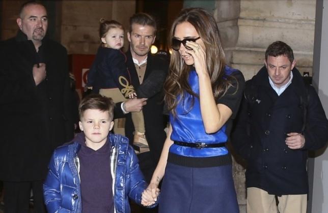 PHOTOS - David Beckham, Victoria Beckham et leurs enfants sont à Paris