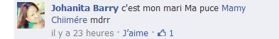 Johanna Barry confirme à ses amis que le journaliste Basile Niane est son Talbo!