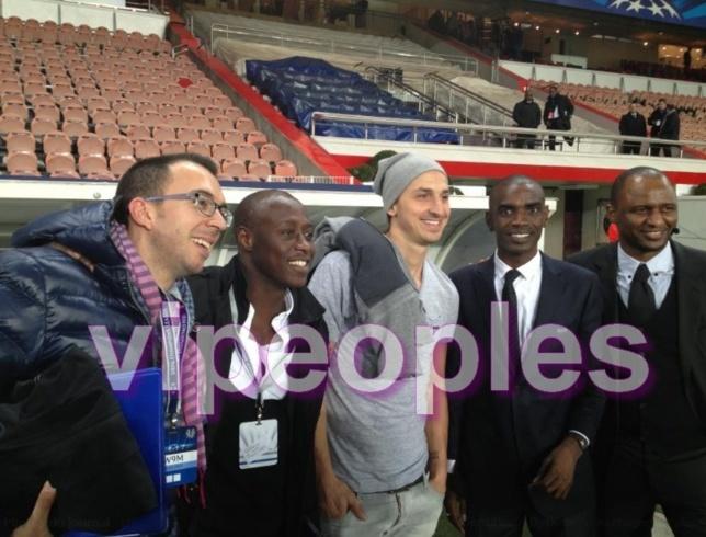 FADIGA, ZLATAN , VIERA et ABOUBACRY BA au Parc des Princes avec le PSG