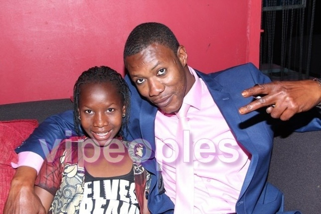 Tange Tandian à l'anniversaire de sa fille