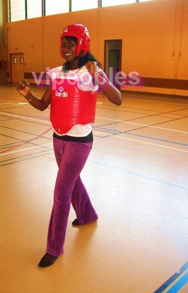Timzy Ndiaye, une pratiquante du Taekwondo.