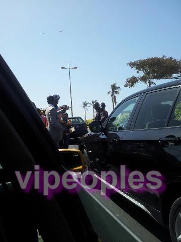 Le fils de Youssou Ndour, Birane Ndour contrôlé par la police pour avoir percuté l'arriere d'une autre voiture