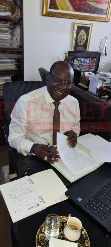 Le Président Mbagnick Diop très tôt ce matin au bureau pour préparer le Conseil D'administration de l'ANAQ - Sup