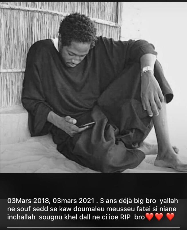 03 Mars 2018 /03 Mars 2021: 3 ans deja que nous a quitté notre cher Momo fils de Colé Ardo Sow. Paix à son âme