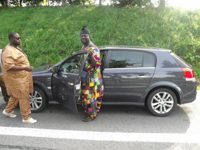 Les deux comédiens Tann Bombé et Hamdy Migno dans les rues d'Italie !!!